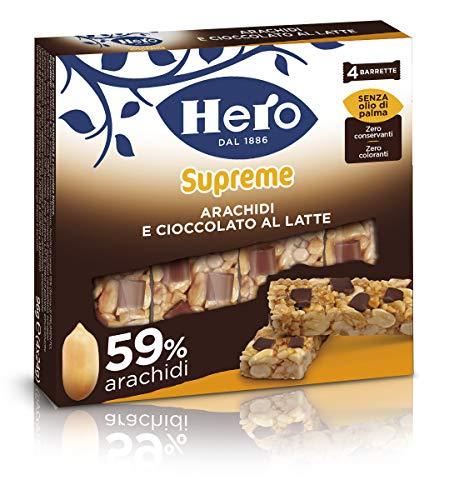 Barrette ai cereali Supreme Arachidi e Cioccolato Latte Confezione 4 X 24 g