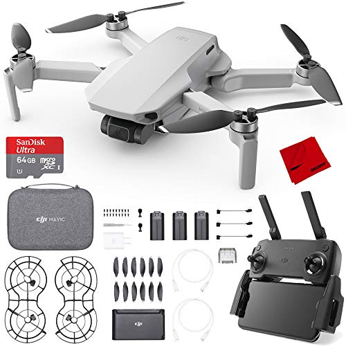 DJI Mavic Mini Quadcopter Drone Fly More Combo (CP.MA.00000123.01) with 64GB Bundle