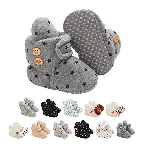 Botitas y Patucos para bebés, Lindo Dibujos Animados Invierno Animal Calentar Casa Antideslizante Suela Zapatillas Regalo para Bebés de 0 a 18 Meses