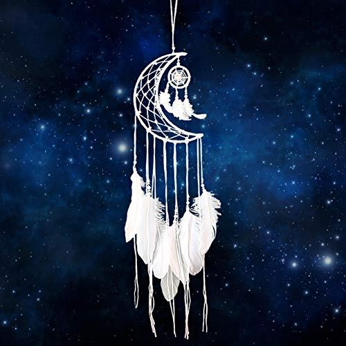 Yuccer Acchiappasogni Indiano Handmade Dreamcatcher Bianche Fatto a Mano Cattura Sogni Decorazioni per Stanza Casa Parete e Finestra (Bianca)