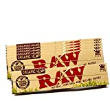RAW Organic Hemp Natural Unrefined Rolling Paper - King Size Slim 110mm Size (6 Packs)