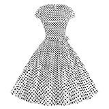 Nuevo vestido retro para mujer con cuello redondo y manga cintura estampada, cómodo para uso diario 2 36