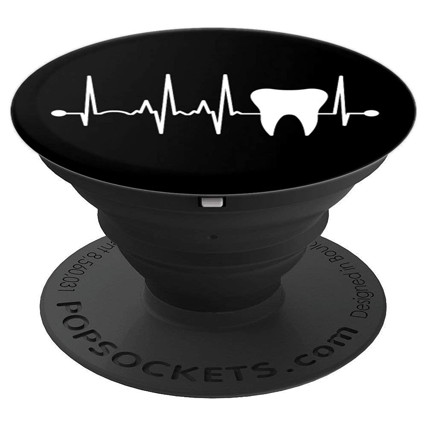 Tooth Heartbeat Dentist Dental Hygienist Assistant Gift PopSockets Grip and Stand for Phones and Tablets