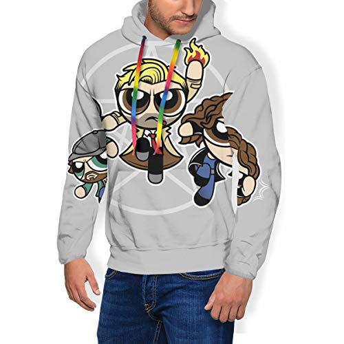 Power Blazers Hell Blazers Powerpuff Girls John Constantine Herren Fashion Sweatshirt Hoodie Kapuzenpullover Taschen plus Samt Gr. Small, Schwarz