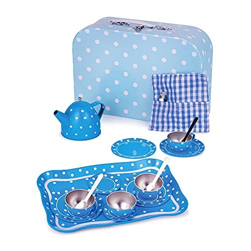 Bigjigs Toys Service à Thé à Pois Bleu en...