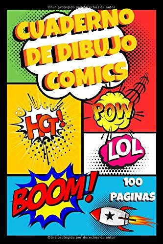 Cuaderno De Dibujo Comics: Escribe Y Dibuja Tus Propios Historietas, regalo de cumpleaños para niños, niñas, adultos y adolescentes, 100 páginas
