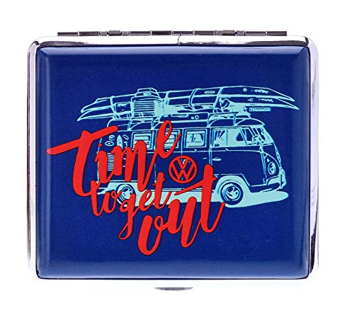 Zigaretten Box, VW Bully, blau, time to get out