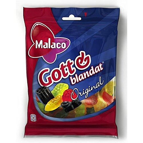 Malaco Gott & Blandat Fruits & Gommes De Réglisse 160G De Vin D'Origine - Paquet de 6