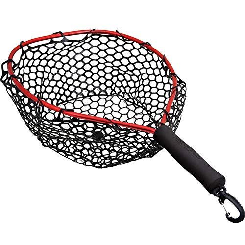 NOMURA Kescher für das Angeln Kayak e Belly Nets 40 x 32 cm 40 x 32 cm Teleskopisch Kautchutiert Meer Forelle See