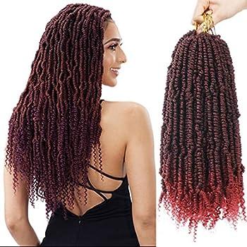 Bomb Twist Hair Crochet Twist 7 Packs Spring Twist Hair Prelooped Crochet Braids Synthetic Hair Passion Twist Braiding Hair for Women 14inch Tbug