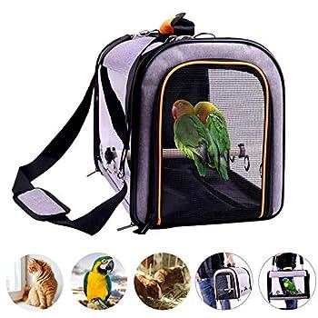 AIHOME Transporteur d'oiseaux - Sac de Transport pour Oiseau,Cage de Voyage d'oiseau avec Un bâton en Bois pour Perroquet