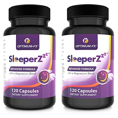 SleeperZzz Einschlafhilfe Tabletten Natürlich Neuro Nacht - DL-Phenylalanin Magnesium Bisglycinat Malat Citrat, Inulin Präbiotischer Ballaststoff, Kamillenpulver-Komplex 120 Kapseln