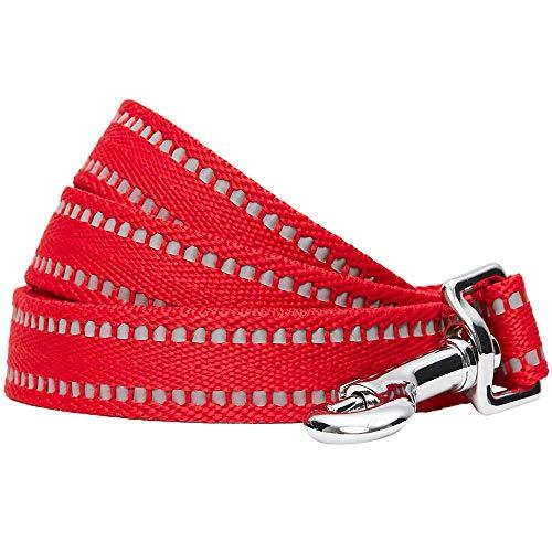 Umi. Essential, guinzaglio per Cani Catarifrangente e Resistente, 120 x 2,5 cm, Taglia L, Colore Pastello Rosso Papavero