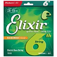 【 並行輸入品 】 Elixir Nanoweb Bass Medium/Long Scale C string for 6 string sets .032