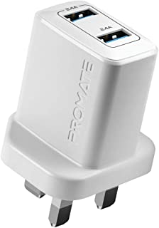 Promate 12W Wall USB Power Adapter for Smartphones, White