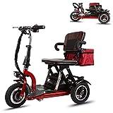 CMNAN Scooters Para Discapacitados, Scooter Plegable Eléctrico Minusválido, 12 Mph, 300W Motor, Ajuste De 3 Velocidades, Carga Máxima De 265 Libras, Adecuado Para Ancianos, Discapacitados Y Adultos 30
