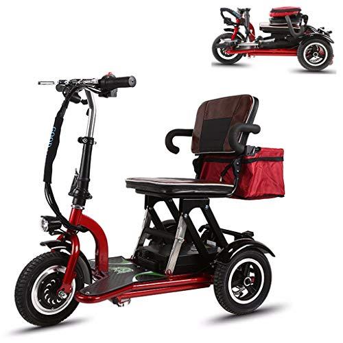 buenos comparativa Scooter CMNAN para discapacitados, scooter eléctrico plegable para discapacitados, 19 km / h, motor de 300 W,… y opiniones de 2021