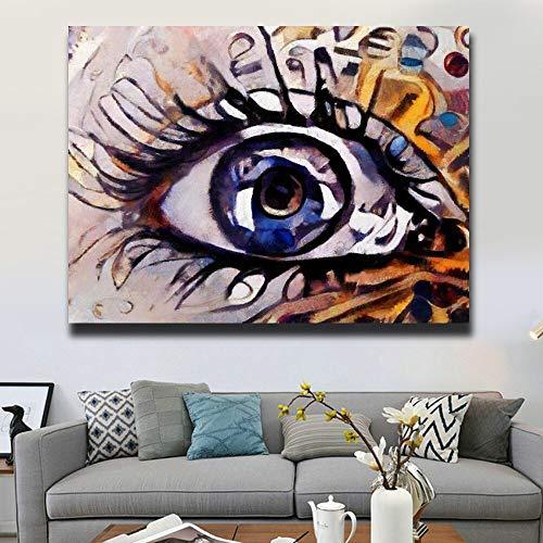 KWzEQ Imprimir en Lienzo Extracto mágico Ojo Pared Arte Imagen Obra onhome decoración Sala de estar80x105cmPintura sin Marco