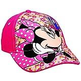 alles-meine.de GmbH Basecap - Disney - Minnie Mouse - Größe 3 bis 12 Jahre - universal & verstellbar - 100 % Baumwolle - für Mädchen - Kinder - Mütze / Sommermütze Baseball Base ..