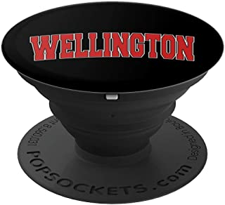 WELLINGTON KS KANSAS Varsity Style USA Vintage Sports PopSockets Grip and Stand for Phones and Tablets