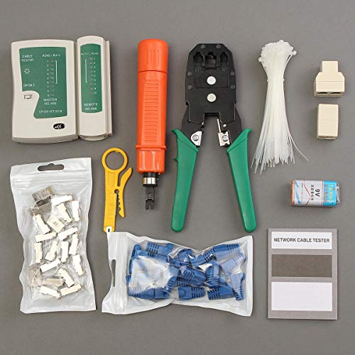 ZOYOSI 11 en 1 RJ45 RJ11 cable manual herramienta de mano crimper Network Tool Kit Punch Down Impact Tools