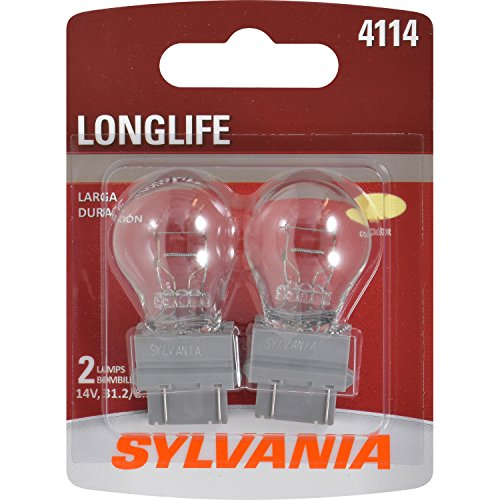 SYLVANIA - 4114 Long Life Miniature - Bulb, Ideal for Daytime Running Lights (DRL) and Back-Up/Reverse Lights (Contains 2 Bulbs)