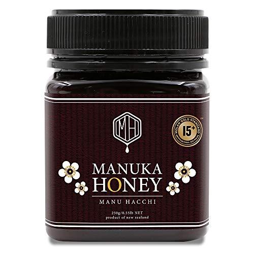 マヌカハニー MGS15+ (MGO500以上) 250g 無添加 非加熱 オーガニック 生 はちみつ 純粋 蜂蜜 ニュージーランド産 【UMFではなくNZ政府公認のMGS認証】