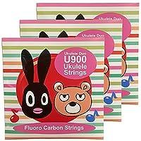 オルカス ウクレレ弦 セット ソプラノ コンサート用 ORCAS UKULELE STRINGS SOPRANO CONCERT OS-U900 RED (3セット)