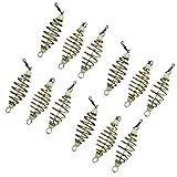 BESPORTBLE 12PCS Luminous Carp Fishing Feeder Coil Inline Method Fishing Tackle Bait Thrower in-line Method Lures Cage Basket Baits