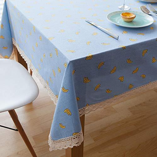 Tafelkleed tuintafel katoen en linnen tafelkleed cartoon leuke computer salontafel afdekking blauw