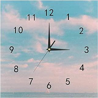 SHOP-DIY Square Wall Clock, Quality Quartz Operated for Home # Beautiful Sky