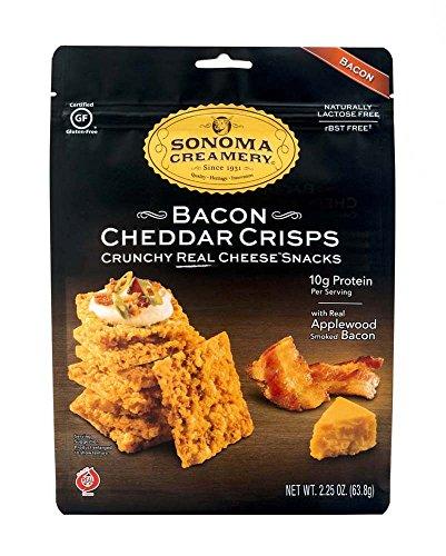 SONOMA CREAMERY Bacon Cheddar Crisps, 2.25 OZ