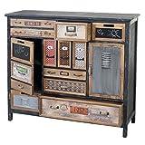 Mendler Apotheker-Schrank HWC-A43, Kommode, Tanne Holz massiv Vintage Shabby-Look 100x110x32cm