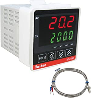 Twidec / Mv100-B10 Digital Display PID Temperature Controller Thermostat Regulator AC 85V - 265V Output SSR Solid State Relay + Thermocouple K Sensor Probe