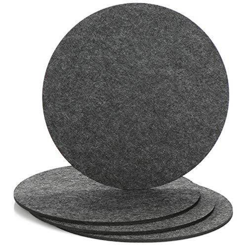 com-four® 4X Topf-Untersetzer aus Filz - runde Tischuntersetzer - Untersetzer für Töpfe, Gläser, Schüsseln und Vasen