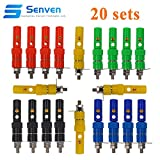 Senven 40pcs Conector Banana, kit adaptador de terminal banana de 4 mm, kit terminal de conector banana, kit conector hembra panel banana - 5 colores (20 macho + 20 hembra)