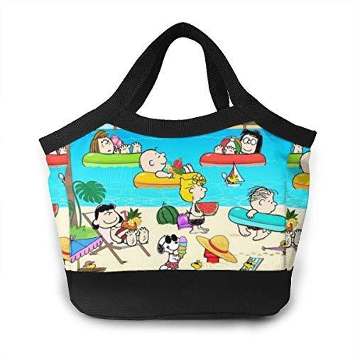 Bolsa de almuerzo Snoopy para verano, playa, piscina, tiempo aislado para el almuerzo, para mujeres, hombres, picnic, trabajo, viajes