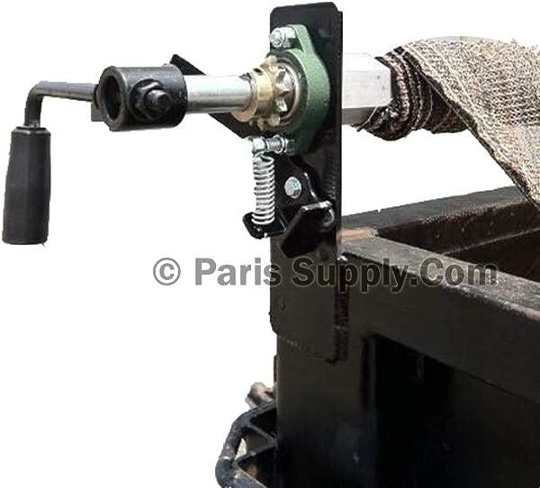 Hand Crank 6 6 X 12 Tarp Roller Kit With Mesh Tarp For Dump Truck Or Trailer
