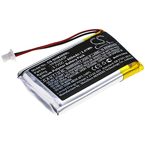 CS-SHM200SL Batería 650mAh Compatible con [Sena] SMH-10S, SMH-20S sustituye YP802542P