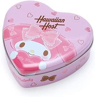 マイメロディ Hawaiian Host ハート缶入りマカデミアナッツチョコレート