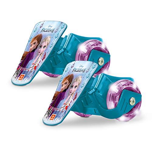Mondo Toys - Frozen II Clip-On Skate - Rotelle da Scarpa - rulli a Due Ruote per i Tuoi Tacchi - Led Light Ruote LED - Misura Regolabile - Portata fino a 50 Kg - 28623
