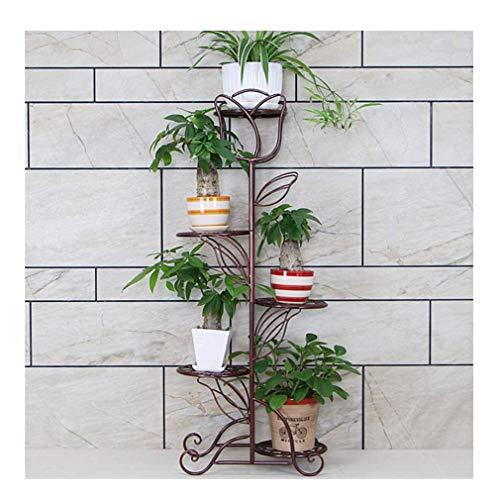 Soporte de planta de metal Estante de estante de planta de hierro forjado de 5 niveles Interior Soporte de exhibición de macetas de jardín al aire libre, Estante de exhibición en maceta de flores