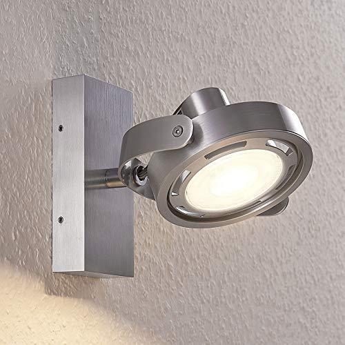 Arcchio LED Deckenlampe 'Munin' dimmbar (Modern) in Alu aus Aluminium u.a. für Wohnzimmer & Esszimmer (1 flammig, GU10, A+, inkl. Leuchtmittel) - Deckenleuchte, Wandleuchte, Strahler, Spot, Lampe