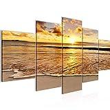 Playa decoración de la pared mesa y Mar - 150 x 75 cm Vista de impresión en lienzo Salón...