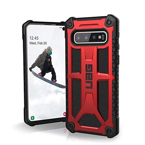 Urban Armor Gear Monarch, Gear para Samsung Galaxy S10 Funda con Estándar Militar Estadounidense [Compatible con Inducción], Talla única, Monarch/Rojo