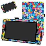 MAMA MOUTH Acer Iconia One 7 B1-780 Funda, Slim PU Cuero con Soporte Funda Caso Case para 7' Acer Iconia One 7 B1-780 Android Tablet,Stained Glass