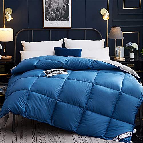 SHINING Wintersteppdecke, hochwertig, warme Daunendecke, Daunendecke, Daunendecke, Daunendecke, warm, warm und weich 200 * 230CM 3KG blau
