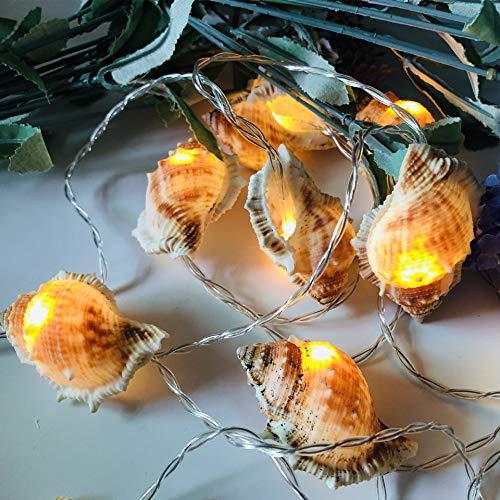 Led-weihnachtsdekoration Lichter Ozean Muschel Lampe Lichter Machen Bilder Requisiten Hawaii Party Szene Raum Dekoration 3m20 Licht Fat Conch - Akku