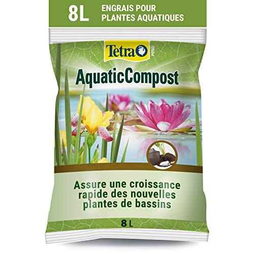 Tetra Pond AquaticCompost - Engrais, Terreau pour Fond de Bassin – Nutriments pour Plantes de Bassin de Jardin et d'Ornement - Favorise la Croissance des Plantes – 8 L