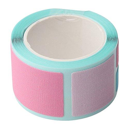 ゆにねーむ お名前布テープ ビビット ピンク 綿100% 44ピース入 AJUN-92